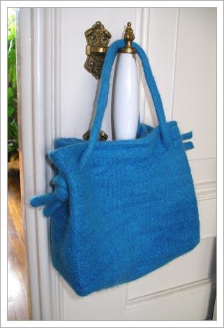 Knit purses - A Good Yarn, yarns for sale: Alchemy, Berroco, Brown